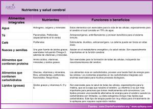 Nutrientes y Salud Cerebral